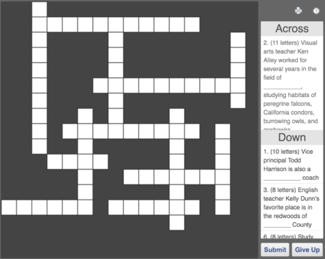 PCS Teachers and Staff Crossword